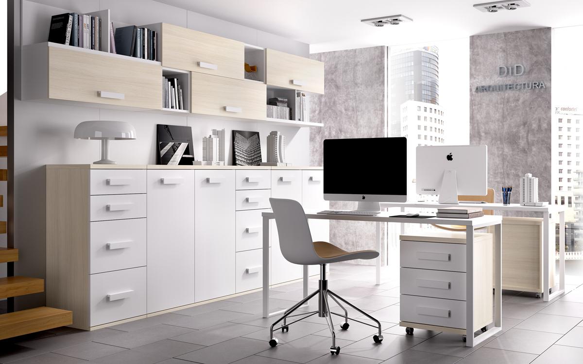 Estudio y despacho mobles izquierdo sabadell for Muebles de escritorio modernos para casa